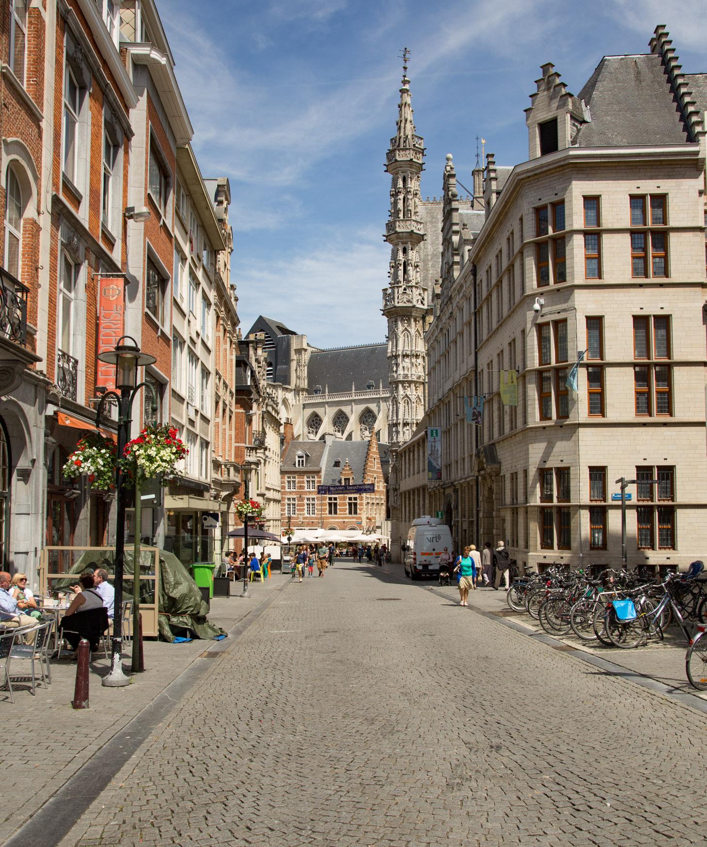 Straatbeeld van Leuven
